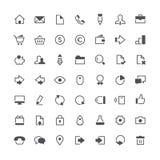 Bedrijfs totale pictogramreeks Stock Afbeeldingen