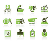 Bedrijfs, van het Beheer en van het bureau pictogrammen Stock Fotografie