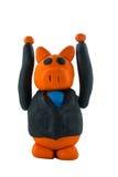Bedrijfs varkenshand omhoog Royalty-vrije Stock Foto