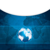 Bedrijfs vector blauwe achtergrond Royalty-vrije Stock Afbeelding