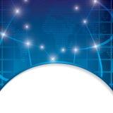 Bedrijfs vector blauwe achtergrond Royalty-vrije Stock Foto