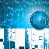 Bedrijfs vector blauwe achtergrond Royalty-vrije Stock Fotografie