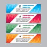 Bedrijfs vectorbanners met veelhoekige sergments voor presentatie, boekje, website en ander ontwerpproject stock illustratie