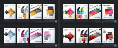 Bedrijfs vectormalplaatje megareeks De brochurelay-out, behandelt modern vector illustratie
