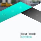 Bedrijfs vectorontwerpelementen voor grafische lay-out Moderne samenvatting Stock Afbeelding