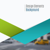 Bedrijfs vectorontwerpelementen voor grafische lay-out Moderne samenvatting Stock Afbeeldingen