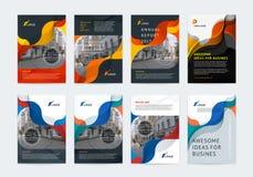 Bedrijfs vectorreeks De lay-out van het brochuremalplaatje, dekkingsontwerp stock illustratie