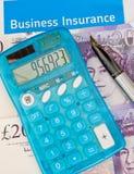 Bedrijfs verzekering in het UK. stock foto's