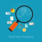 Bedrijfs vlakke Analyse Stock Foto's
