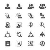 Bedrijfs vlakke pictogrammen Royalty-vrije Stock Foto's