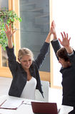 Bedrijfs voltooide uitdaging royalty-vrije stock foto