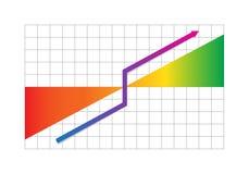 Bedrijfs vooruitgangsgrafiek met pijl Royalty-vrije Stock Afbeelding