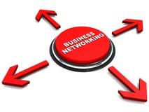 Bedrijfs voorzien van een netwerk Stock Foto