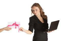 Bedrijfs vrouw. Royalty-vrije Stock Afbeelding