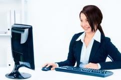 Bedrijfs vrouw. Stock Foto's