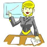 Bedrijfs vrouw royalty-vrije illustratie