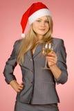 Bedrijfs vrouw & vakantie Stock Foto