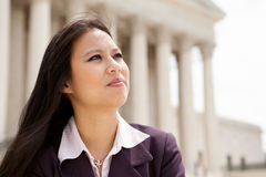 Bedrijfs vrouw bij Hooggerechtshof Stock Foto