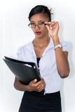 Bedrijfs vrouw binnen Royalty-vrije Stock Afbeeldingen