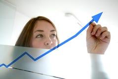 Bedrijfs vrouw - de groei Royalty-vrije Stock Afbeeldingen