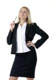 Bedrijfs vrouw die een pen houdt stock foto's