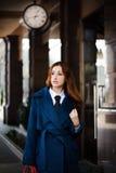 Bedrijfs vrouw die gaan werken Royalty-vrije Stock Foto