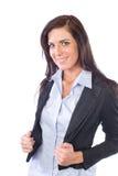 Bedrijfs vrouw die op wit wordt geïsoleerdÀ Royalty-vrije Stock Foto's