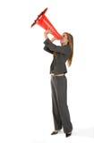 Bedrijfs Vrouw die tot Werknemers opdracht geeft Royalty-vrije Stock Foto