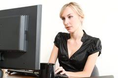 Bedrijfs Vrouw in een Bureau Stock Fotografie