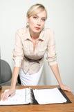 Bedrijfs Vrouw in een Bureau Stock Foto's