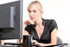 Bedrijfs Vrouw in een Bureau Royalty-vrije Stock Fotografie