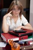 Bedrijfs Vrouw in het bureau Royalty-vrije Stock Afbeelding