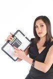 Bedrijfs Vrouw met calculator Royalty-vrije Stock Afbeelding