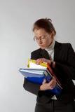 Bedrijfs vrouw met documenten Royalty-vrije Stock Afbeelding
