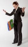 Bedrijfs vrouw met documenten Stock Foto