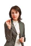 Bedrijfs vrouw met glazen royalty-vrije stock foto