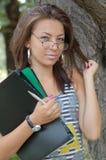 Bedrijfs vrouw met glazen Stock Fotografie