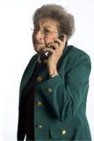 Bedrijfs vrouw met houding Stock Fotografie