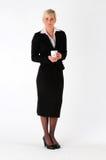 Bedrijfs vrouw met koffiemok Royalty-vrije Stock Afbeeldingen