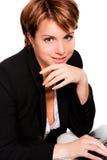 Bedrijfs vrouw met laptop Stock Fotografie