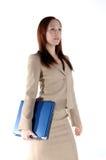 Bedrijfs Vrouw met Laptop royalty-vrije stock fotografie