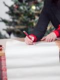 Bedrijfs vrouw met lijst 2 van de Kerstmiswens Stock Fotografie