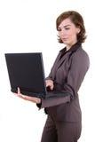 Bedrijfs vrouw met notitieboekje Stock Afbeeldingen