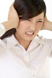 Bedrijfs vrouw met pijn Stock Fotografie