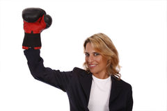 Bedrijfs vrouw met positieve atitude Royalty-vrije Stock Afbeelding