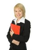 Bedrijfs vrouw met rode omslag Royalty-vrije Stock Fotografie