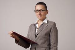 Bedrijfs vrouw met tablet Royalty-vrije Stock Foto's