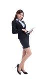 Bedrijfs vrouw met tablet Stock Foto's
