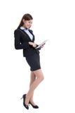 Bedrijfs vrouw met tablet Stock Afbeelding