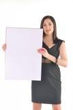 Bedrijfs Vrouw met tikgrafiek Royalty-vrije Stock Fotografie